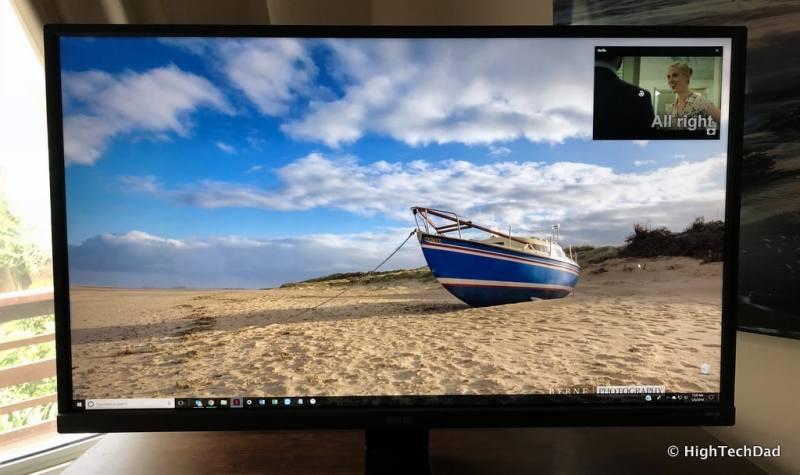 BenQ EW3270U monitor review - Desktop & Netflix window