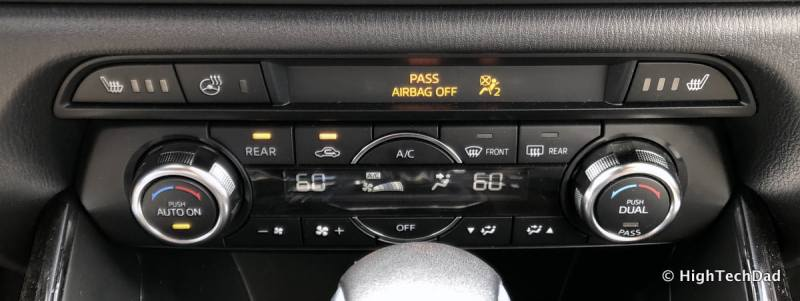 HTD 2018 Mazda CX-9 Review - front climate controls