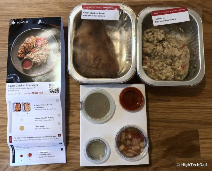 HTD Tovala Steam Oven & Meals Review - what's in a meal