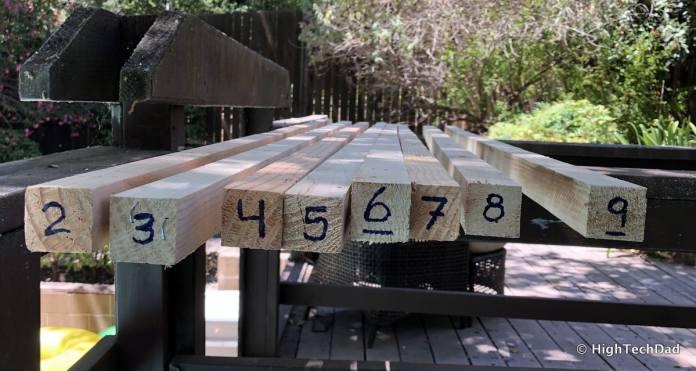HTD DIY Deck Lighting Post - numbered posts