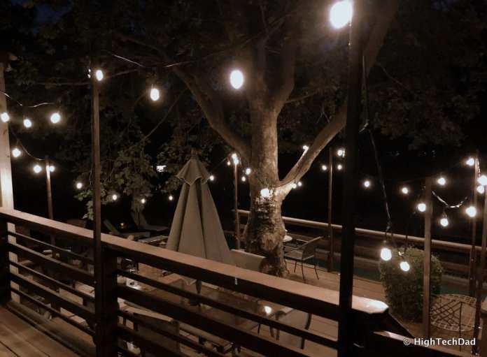 HTD DIY Deck Lighting Post - lit deck
