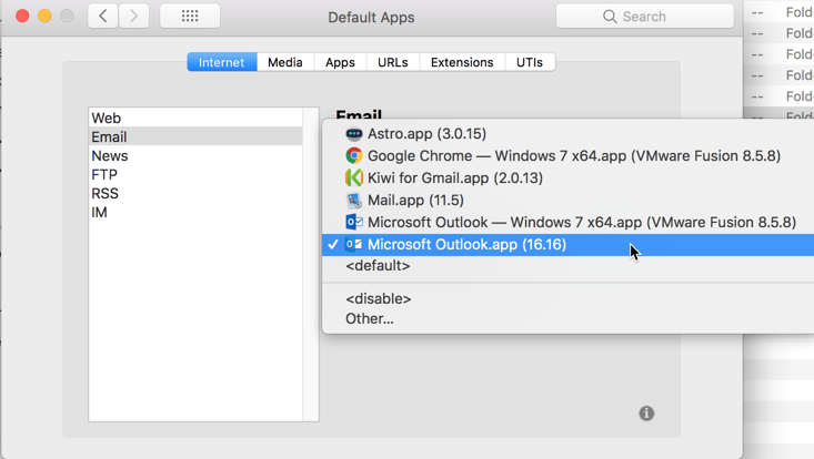 HighTechDad - How To set default application on Mac - set default email like Outlook