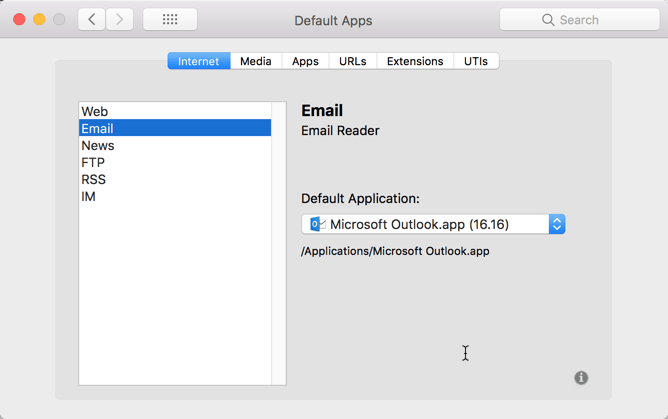 HighTechDad - How To set default application on Mac - set default email app