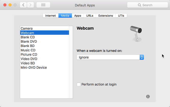 HighTechDad - How To set default application on Mac - set default app for media webcam