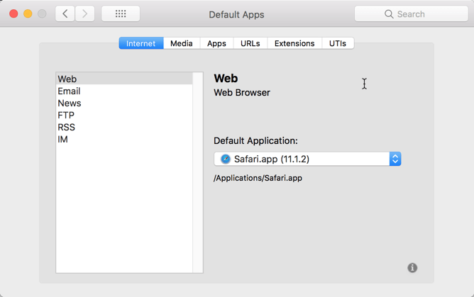 HighTechDad - How To set default application on Mac - set default web browser