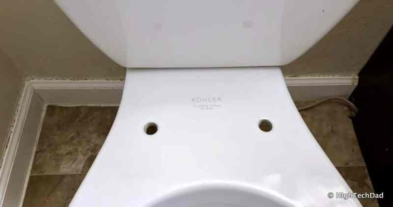 HighTechDad Omigo Toilet Seat Review - removed old seat