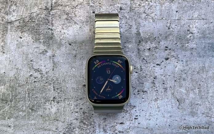 HighTechDad Apple Watch Series 4 - larger display
