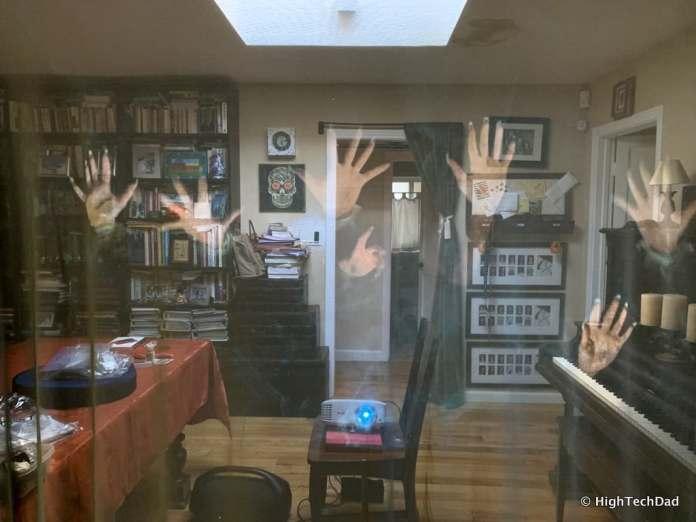 HighTechDad AtmosFX Halloween Digital Decorations - test environment lights on