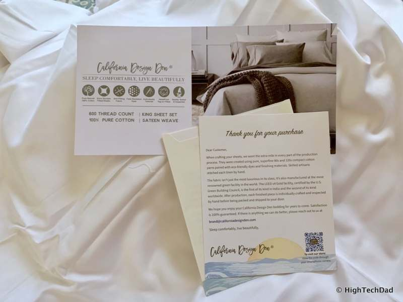 HighTechDad Sleep Tips & California Design Den Sheets - sheets