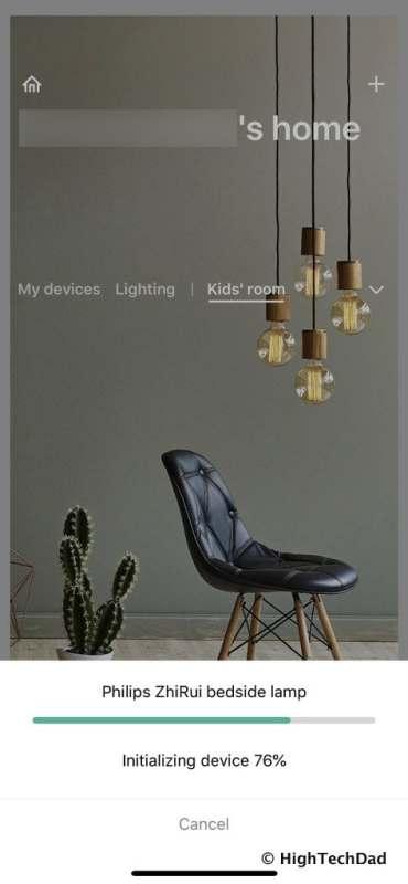 HighTechDad Xiaomi PHILIPS ZhiRui Smart Bedside Lamp - initializing device