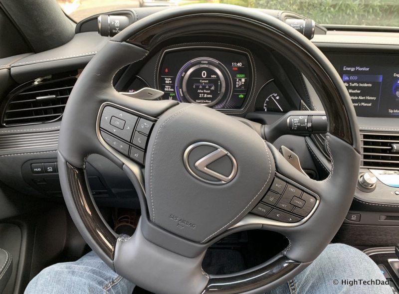 HighTechDad 2019 Lexus LS-500h review - steering wheel