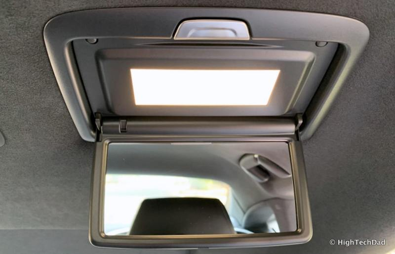 HighTechDad 2019 Lexus LS-500h review - rear vanity mirror