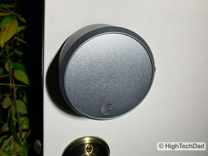 HighTechDad Review August Smart Lock Pro - lock installed