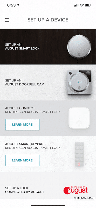 HighTechDad Review August Smart Lock Pro - setting up new device