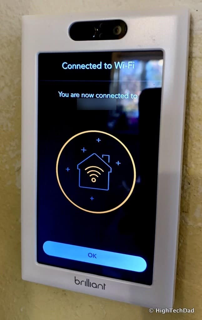 HighTechDad Brilliant Smart Switch Review - connected to wifi