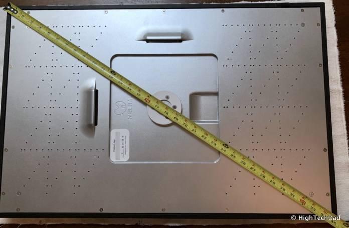 HighTechDad Meural Canvas Review - measure diagonally