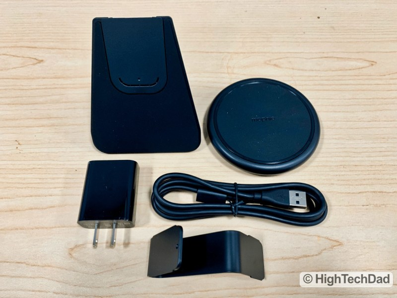 HighTechDad Review Mophie Charge Stream Desk Stand - what's in the box