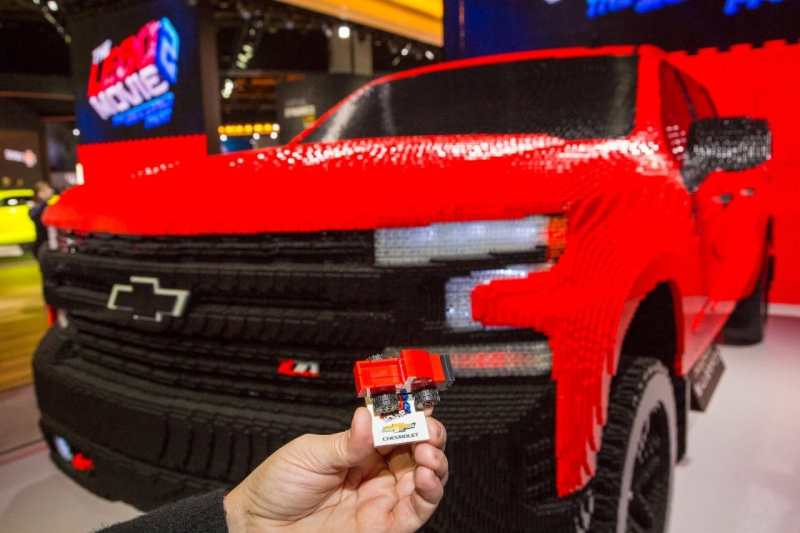 Chevy Silverado LEGO model with 334,544 LEGO pieces