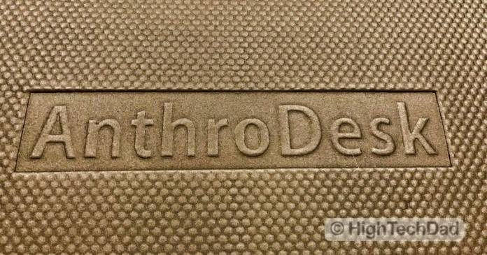 HighTechDad Review of AnthroDesk ErgoSlant Anti-Fatigue Standing Desk Mat - bottom logo