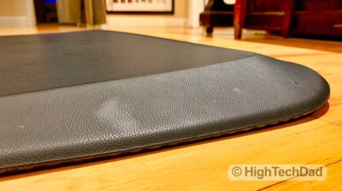 HighTechDad Review of AnthroDesk ErgoSlant Anti-Fatigue Standing Desk Mat - sloped