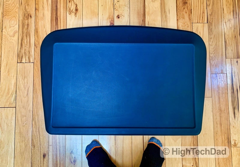 HighTechDad Review of AnthroDesk ErgoSlant Anti-Fatigue Standing Desk Mat - from above