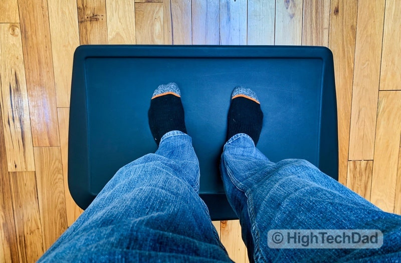 HighTechDad Review of AnthroDesk ErgoSlant Anti-Fatigue Standing Desk Mat - standing