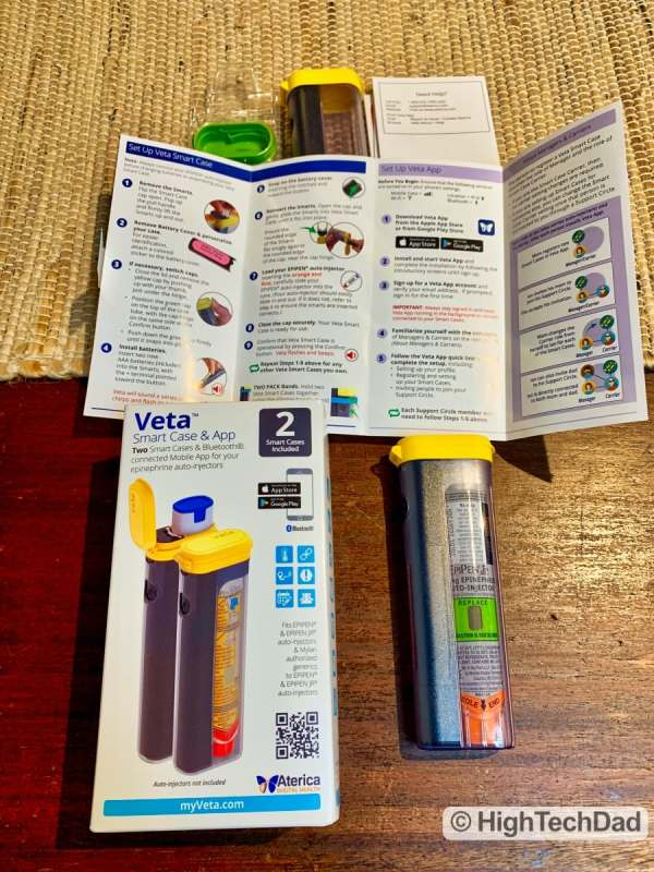 HighTechDad review Aterica Veta Smart Case for EPIPENS - what's in the box