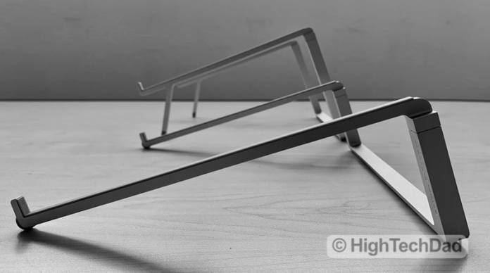 HighTechDad Reviews Rain Design mBar Pro, mBar Pro+, & mStand - both mBar's side by side.