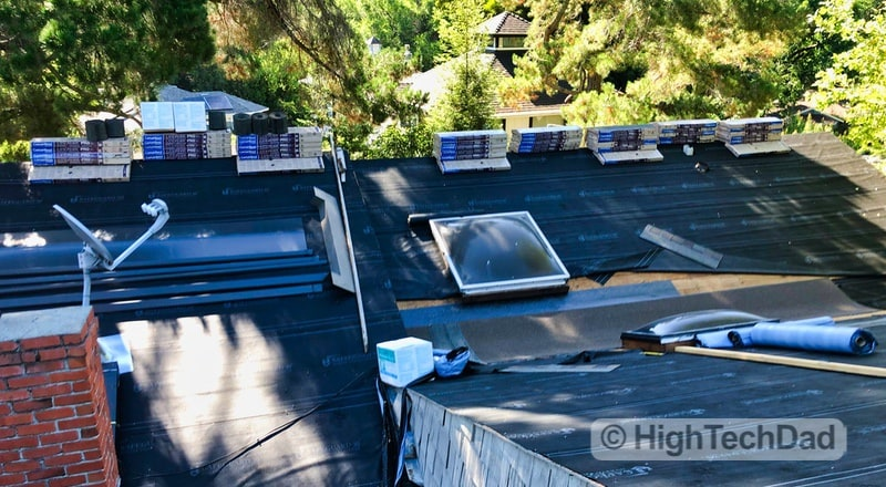 """HighTechDad Habitat for Humanity """"Home is the Key"""" - roofing"""
