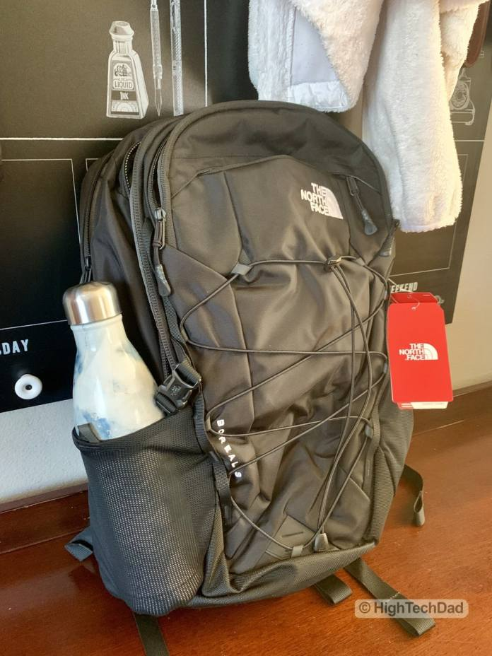 HighTechDad Backpacks.com The North Face Borealis backpack review - water bottle holder