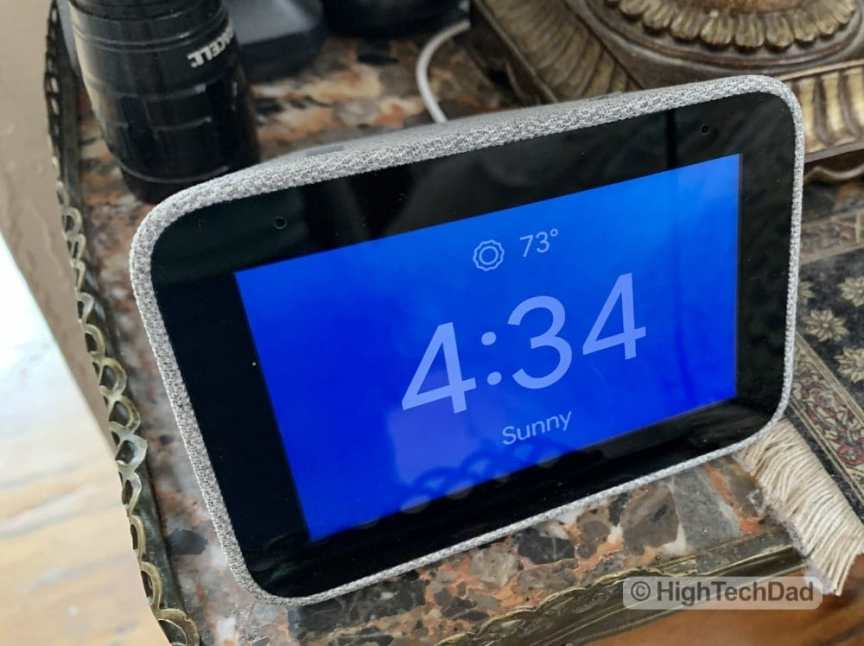 "HighTechDad Review of Lenovo Smart Clock - 4"" display"