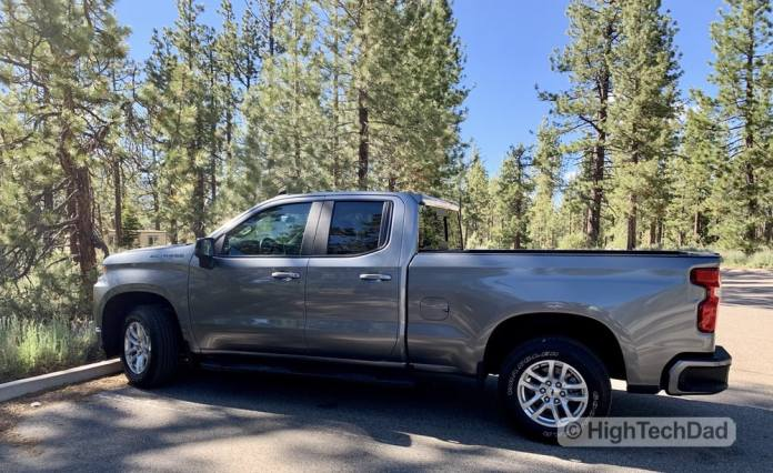 HighTechDad Review 2019 Chevy Silverado - side view