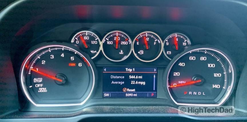 HighTechDad Review 2019 Chevy Silverado - gas mileage
