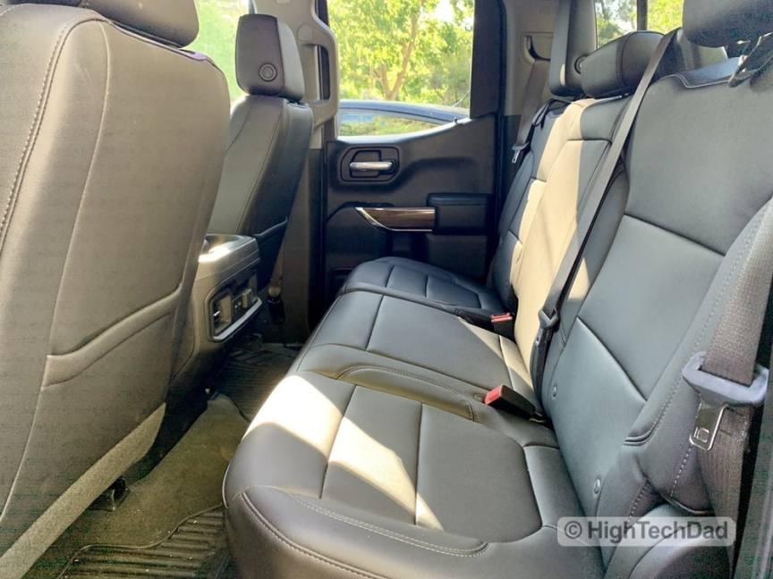 HighTechDad Review 2019 Chevy Silverado - rear seats