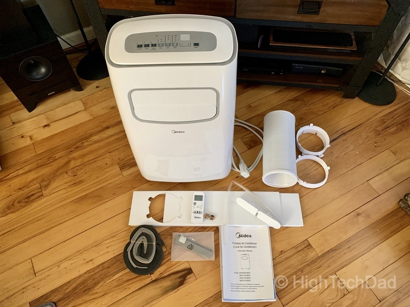 HighTechDad MIDEA portable air conditioner - what's in the box