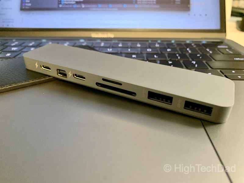 HighTechDad review of HyperDrive PRO 8-in-2 USB Type-C hub - ports