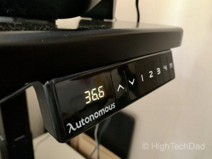 HighTechDad review of Autonomous Smart Desk 2 sit-stand desk - controls