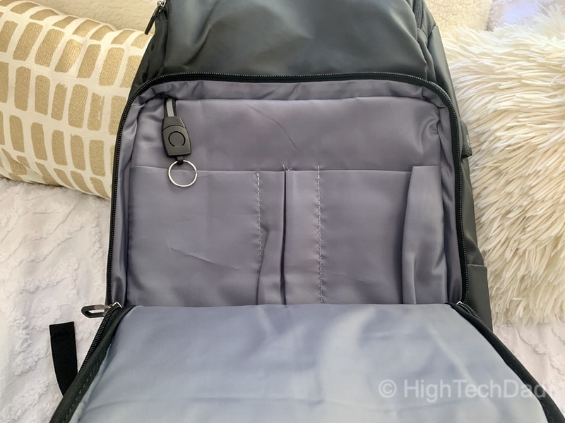 HighTechDad Reviews Nayo Almighty backpack - office supply area