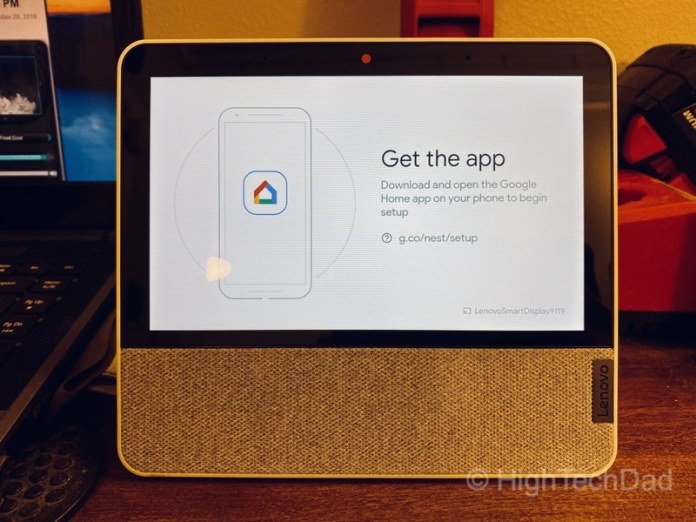 HighTechDad review: Lenovo Smart Display 7 - get the Google Home app to set up