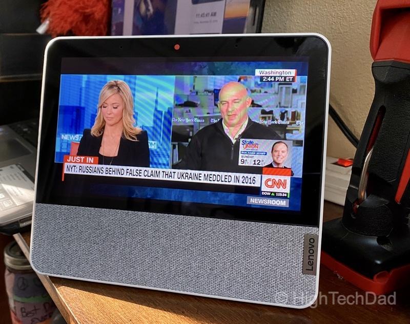 HighTechDad review: Lenovo Smart Display 7 - more CNN streams
