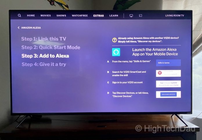HighTechDad Review: VIZIO M-Series 4K TV - connecting Alexa