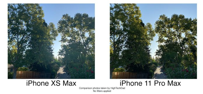 HighTechDad tests iPhone 11 Pro Max - better color balance in bright light