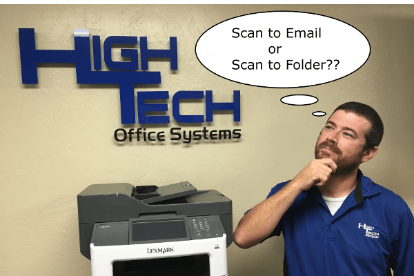 scan-to-email or scan-to-folder