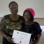 Certificate award to participant