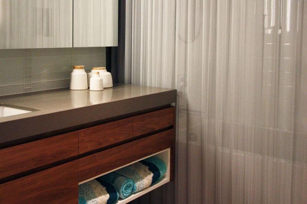 cascade coil shower curtain metal