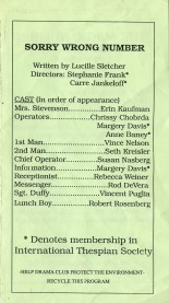 One Acts Festival '92 p4