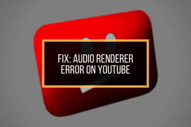 Fixed Audio Renderer Error on Youtube