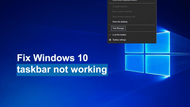 How To Fix Taskbar Not Working in 2020