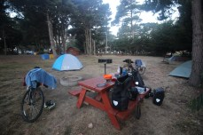 First KOA camping experience in Manchester, CA.