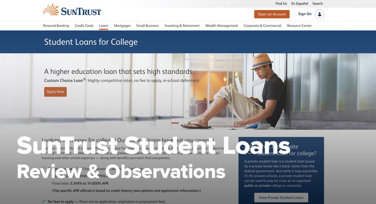 Log Suntrust Bank Account